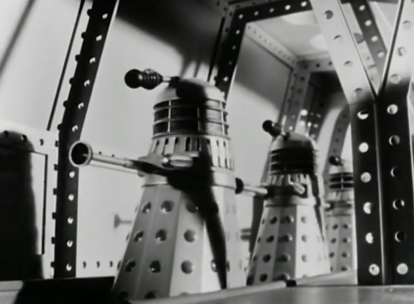 Hertz Daleks were used in the model sequences