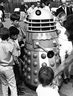 Dalek Five-6 at the St. John's CofE fete, Stanmore, on 8th July 1968