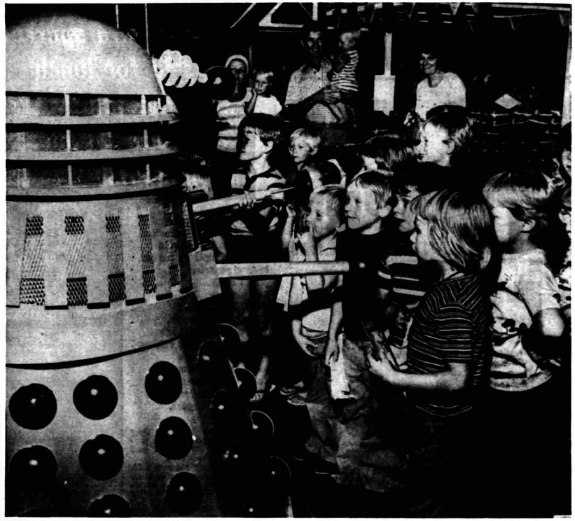 Two Daleks visited Thurmaston in July 1976