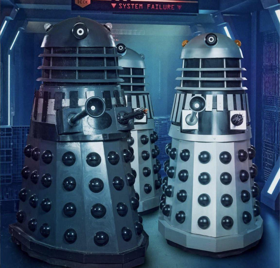 MBH1 with the two Hyde Fundraisers Daleks.
